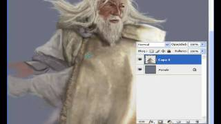 "How to draw Speedpaint photoshop  "" Gandalf "" by Gersom Espinosa"