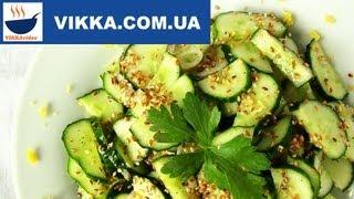 Легкий весенний салат с огурцами от VIKKAvideo-Простые рецепты