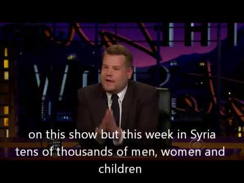 james corden emotional Aleppo and Syria appeal