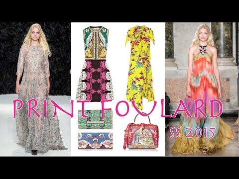 PRINT FOULARD Fashion Trend Spring 2015