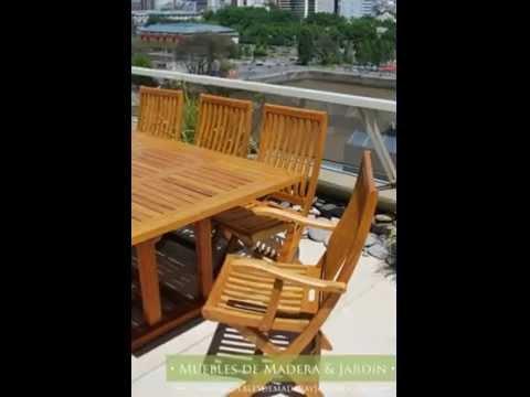 Sillas de teka con apoyabrazos muebles de madera y - Muebles teka jardin ...