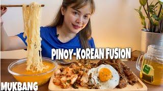 FILIPINO-KOREAN FUSION MUKBANG | SHOUT OUT