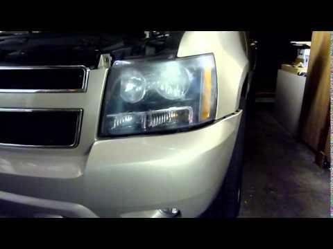 2007 Chevy Tahoe Suburban Headlamp Remove