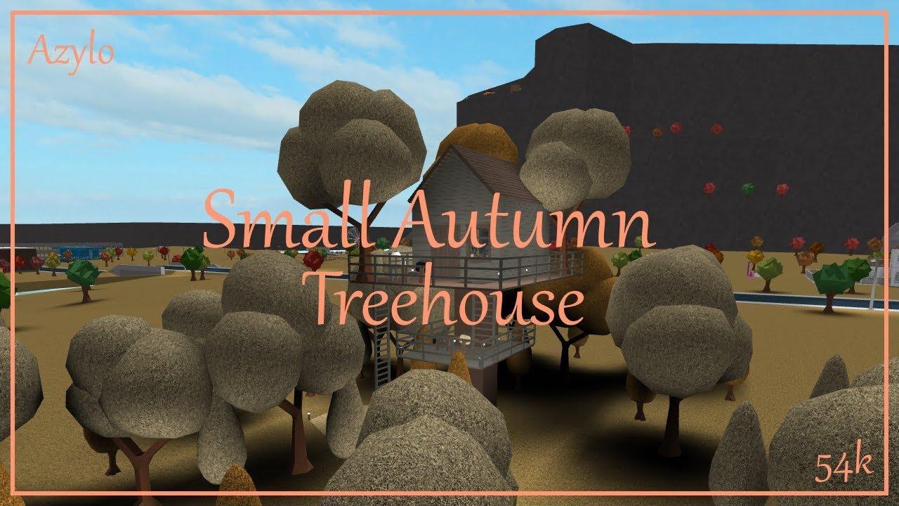 Roblox Bloxburg Small Autumn Treehouse 54k Youtube
