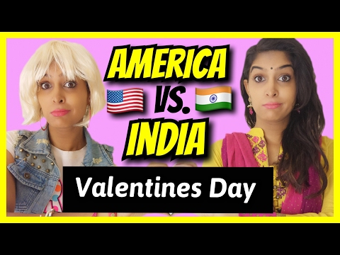 American Girls VS. Indian Girls | Valentines Day | #AnishaTalks