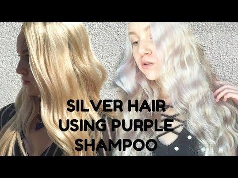 How to Achieve Silver Hair Using Purple Shampoo