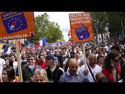 Manifestaciones en Europa contra el pase sanitario | Más de 200 000 personas en Francia