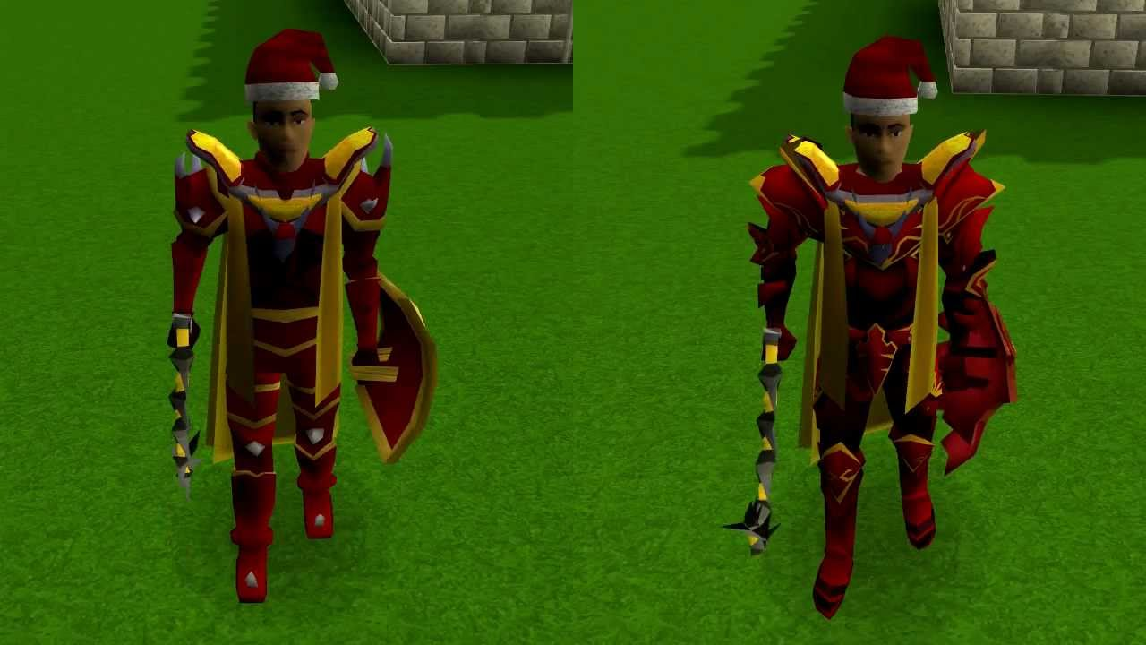 Runescape Dragon Armour Before And After Youtube