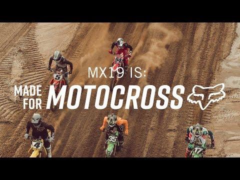 FOX MX   MX19 IS MADE FOR MOTOCROSS    RICKY CARMICHAEL, KEN ROCZEN, RYAN DUNGEY, ADAM CIANCIARULO