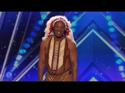 Thumbnail: America's Got Talent 2016 Christopher One Little Indian Or Is It Full Audition Clip S11E05