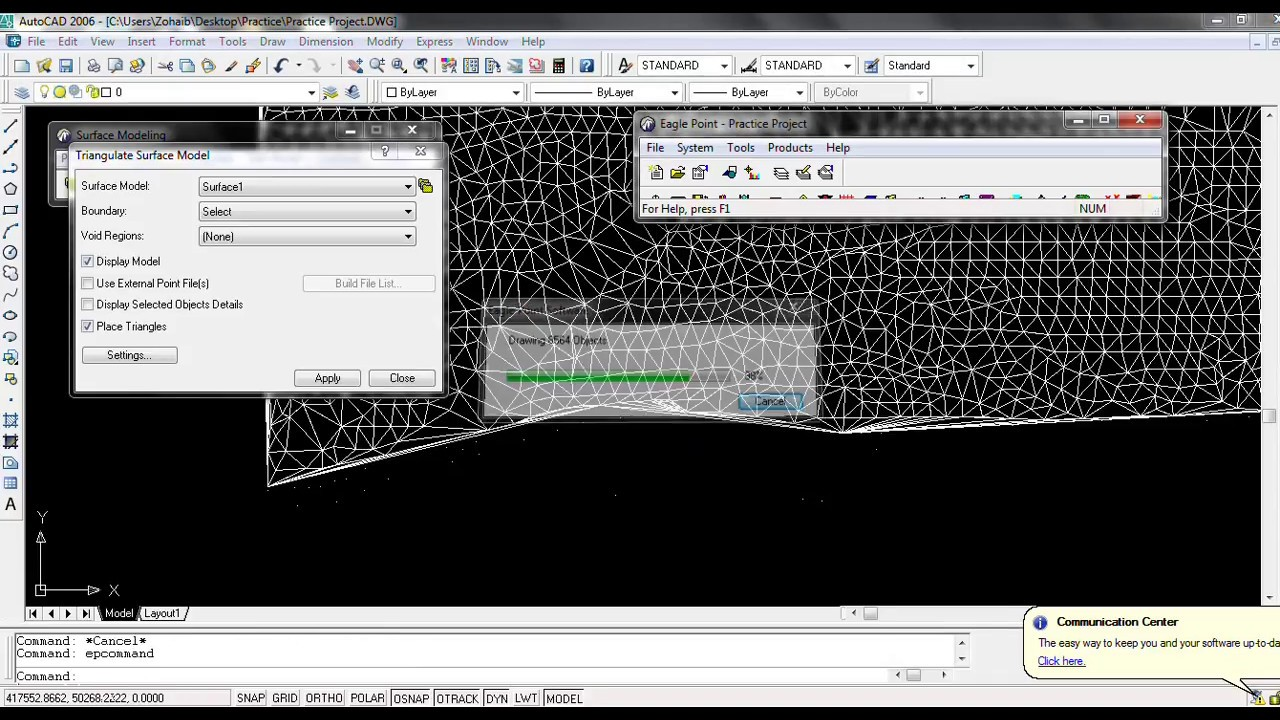 Creating Surface, TIN and Contours in Eagle Point (Tutorial # 2 ...
