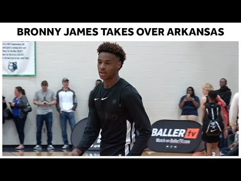 promo code 7abf6 81615 Bronny James and North Coast Blue Chips SHOW OUT In Arkansas ...