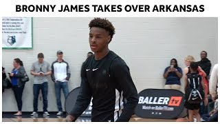 Bronny James and North Coast Blue Chips SHOW OUT In Arkansas - Full Highlights