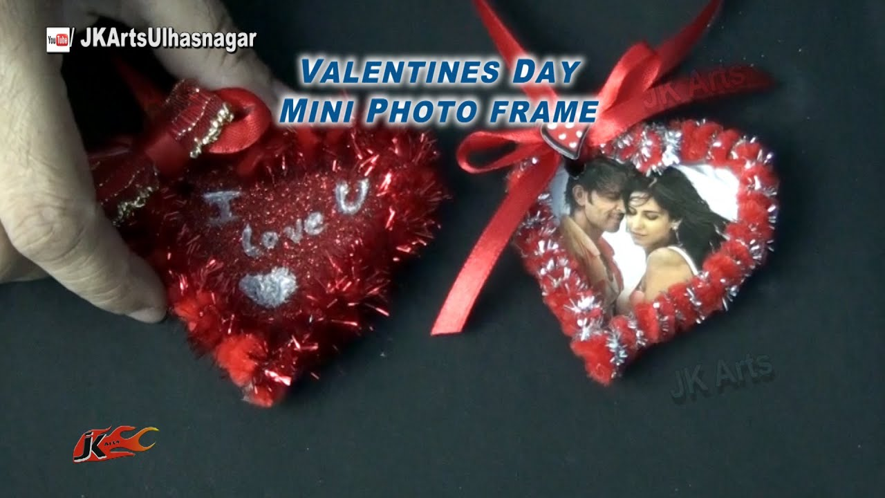 DIY Mini Photo Frame | Valentineu0027s Day Gift Idea | How To Make | JK Arts  835   YouTube