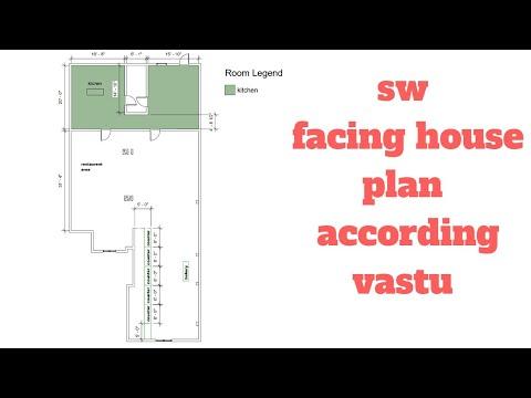 south west facing 80'x60' house plan according vastu