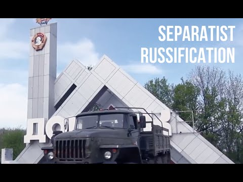 Watch Donetsk Road Sign Being 'Russified' By Separatists