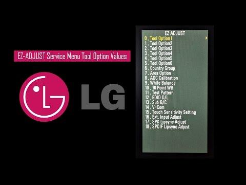 LG TV Service Menu (EZ-ADJUST) Tool Option Values