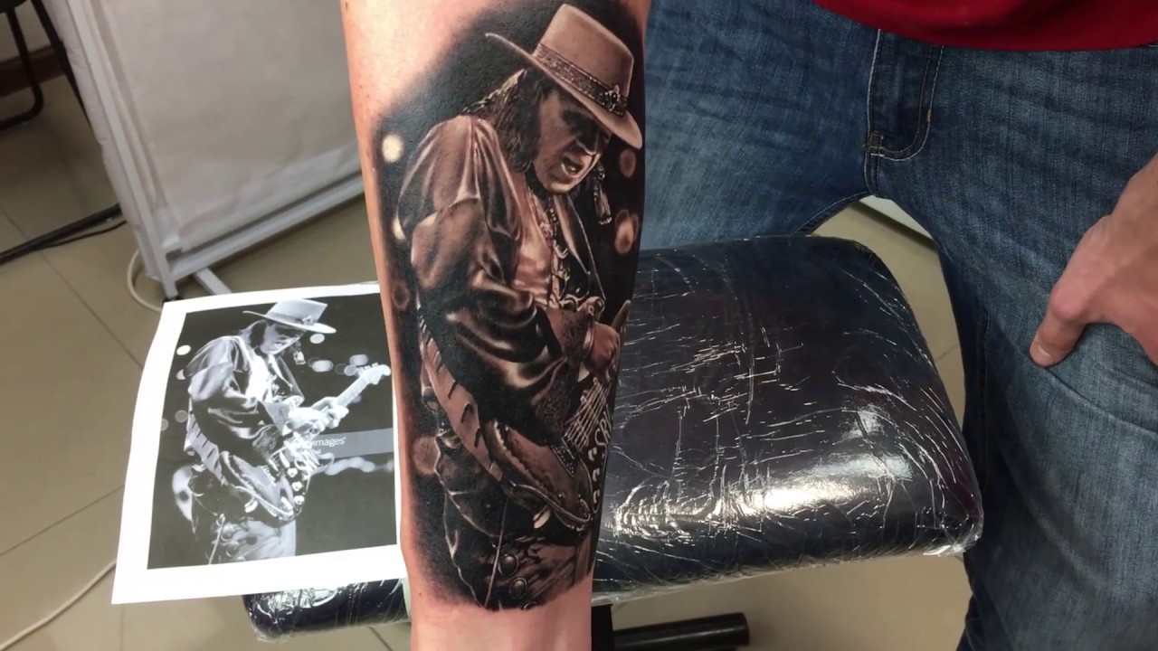 Stevie ray vaughan demi tattoo youtube for Stevie ray vaughan tattoo