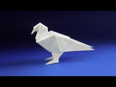 Оригами голубь из бумаги 🐦 Оригами ПТИЦА из бумаги