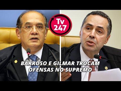 Barraco no STF: Barroso e Gilmar divergem sobre prisões de poderosos e trocam ofensas