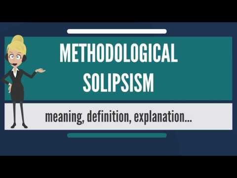 What is METHODOLOGICAL SOLIPSISM? What does METHODOLOGICAL SOLIPSISM mean?