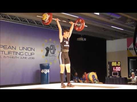 Hansalek Patrick - U15 male - 2018 EU Weightlifting Cup - Innsbruck / AUT