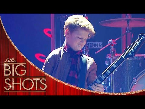 Kid Guitarist Slays Lenny Kravitz's 'Are You Gonna Go My Way' | Little Big Shots