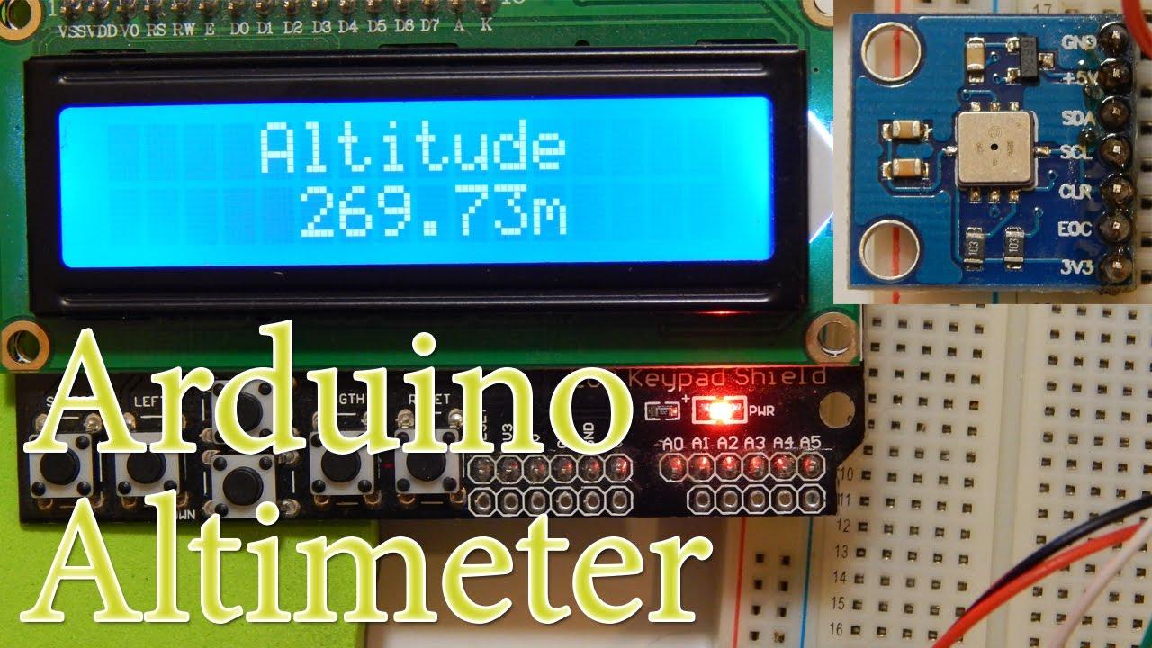 Arduino  Altitude, Altimeter, BMP085 I2C Pressure Sensor