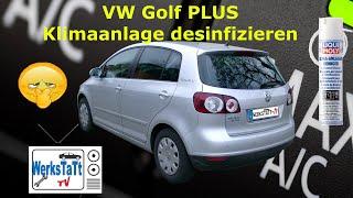 ►VW Golf Plus / Golf 5◄ Klimaanlage desinfizieren / reinigen [desinfect / clean Air Conditioner A/C