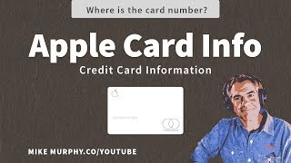 Apple Card: How To Find Credit Card Information Video