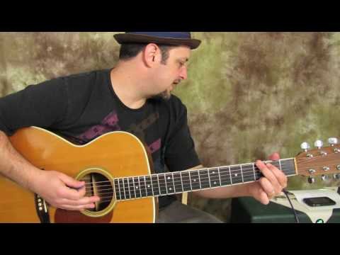 Easy Beginner Acoustic Songs on Guitar - Lessons - Ray Lamontagne - Trouble