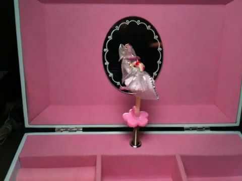 Goth Vampire Black Swan Ballerina Music Box