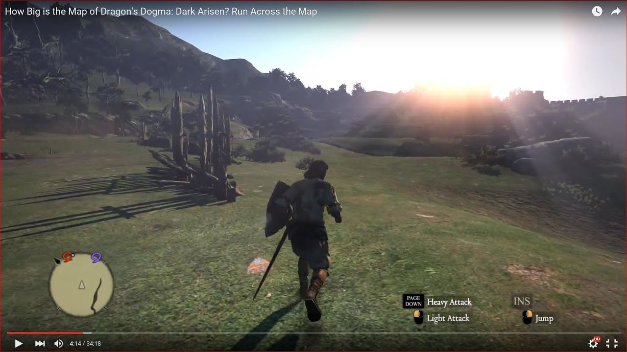 Awesome HOW BIG IS THE MAP In Dragonu0027s Dogma: Dark Arisen? Run Across The Map