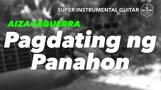 Aiza Seguerra Pagdating ng Panahon instrumental guitar karaoke cover with lyrics