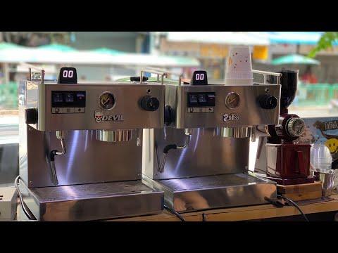 รีวิวเครื่องชงกาแฟสดตัวใหม่กันนะคะ ที่ร้านดอกกาแฟ จำหน่ายตอนนี้นะคะ