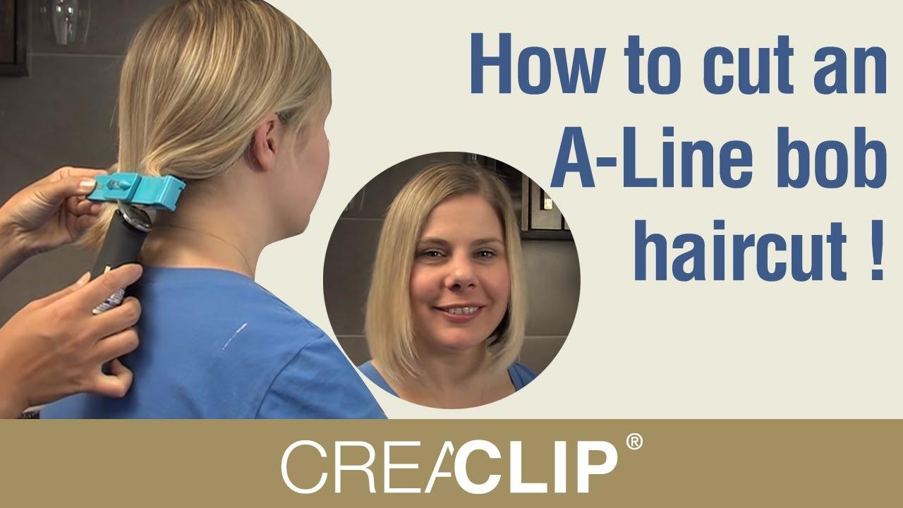 How to cut an ALine bob haircut  DIY and cut a bob