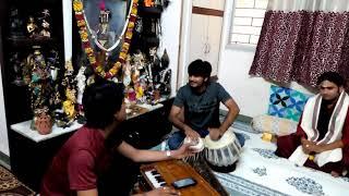 Deewakar meena in front of pramod ji jha