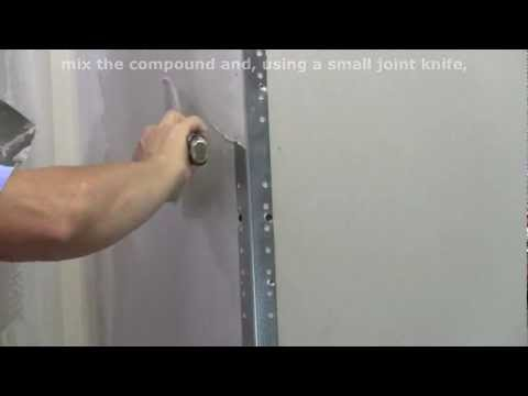 How To Finish Metal Drywall Corner Bead Youtube