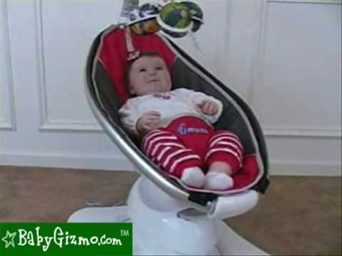 revolving chair for baby beige accent target gizmo 4moms mamaroo review youtube