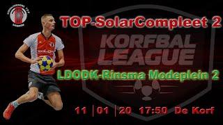 TOP/SolarCompleet 2 tegen LDODK/Rinsma Modeplein 2, zaterdag 11 januari 2020