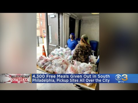 4,300 Free Meals Given Out In South Philadelphia