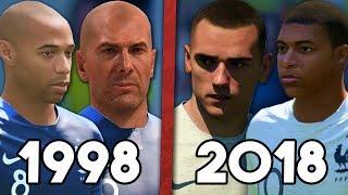 FRANCE 98 VS FRANCE 2018 SUR FIFA 18!