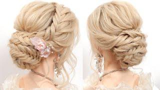 Легкая свадебная прическа на средние и длинные волосы