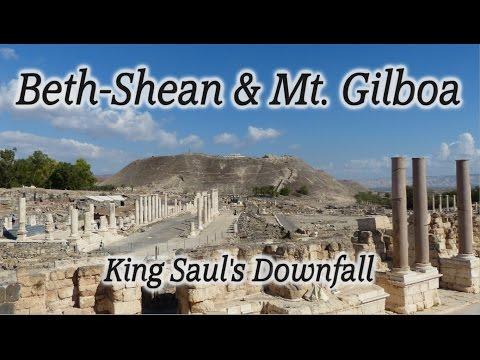 Beth-Shean (Beit Shean, Bet She'an) \u0026 Mt. Gilboa: King Saul's Downfall, Roman Decapolis City, Israel