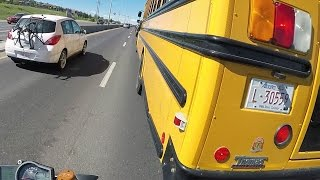 Close call with a School Bus