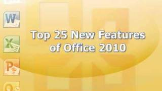 Top 25 New Features of Office 2010