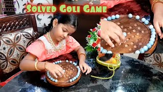 Smart Baby Solved Goli Game Puzzle : One Handed| Marbles | Peg Solitaire