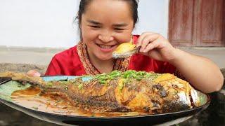 朋友送海鲜,苗大姐蒸鲍鱼+红烧黄花鱼,吃到撑,豪华大餐真过瘾#苗阿朵美食