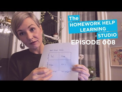 Study Hacks, Impact Effort Matrix, Corson Technique | The Homework Help Show EP 08