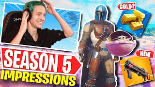 Ninja's First Impressions of Fortnite Season 5!! W/ Jordan Fisher